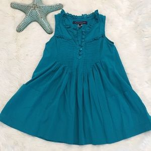 French Connection Teal Button Down Sleeveless Top